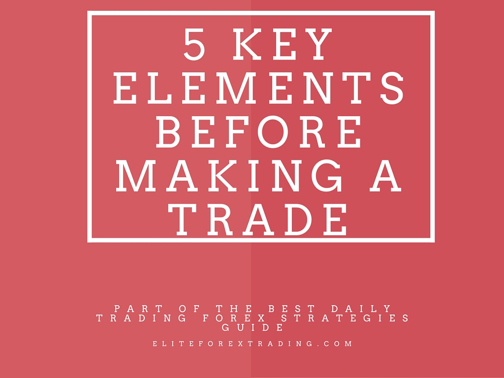 5 Key Elements Before Making a Trade