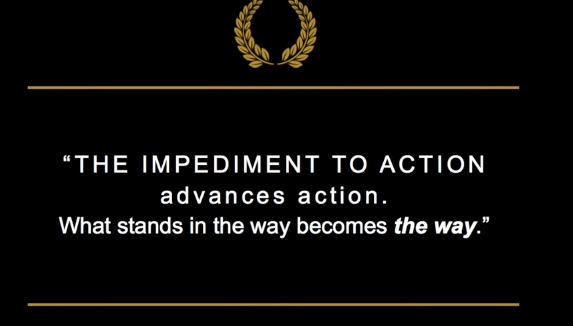 Action advances the way