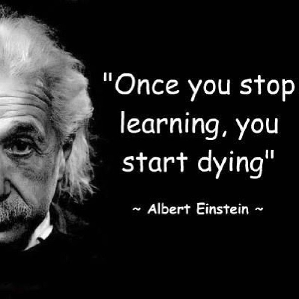 Einstein Quote - Stop Learning