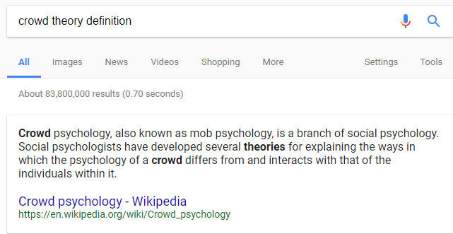Crowd Theory Definition